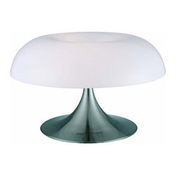 """Lite Source - Lite Source LS-2901 Table Lamp Pliant Collection - Table LampThis family of contemporary table lamps with its special mushroom like design is brilliant for your modern decor. The white acrylic shades are complimentary to both the polish steel and white metal bodies. Both are provided with energy efficient compact fluorescent bulbs.13W x3 Compact FluorescentSpiral Type Bulbs(Bulbs Included)E-27 Socket (Medium Base)On/Off SwitchShade Dimensions: 4.5"""" x 20""""Base: 12"""""""