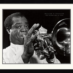 Amanti Art - Louis Armstrong Framed Print by William P. Gottlieb - Celebrate the life and work of Jazz great Louis Armstrong by adding this timeless piece to your decor.