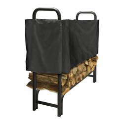 Pleasant Hearth - Pleasant Hearth LC6 Half-Length Log Rack Cover - Black - LC6-4SC - Shop for Fire Places Wood Stoves and Hardware from Hayneedle.com! Defend your firewood against the elements with the Pleasant Hearth LC6 Half-Length Log Rack Cover - Black. Organizing your timber on the rack is only half the battle! You've taken the firewood off the ground and prevented rot and insect infestation but what about rainfall? This 300D polyester cover with weather-resistant liner and Velcro closure system ensures that moisture stays out and logs stay dry! A variety of size options are available for 4-12-foot racks.About GHP GroupGHP Group creates electric fireplaces accessories log sets and other heating options found in homes across America. With years of experience and a close attention to detail their products exceed industry standards of safety quality durability and functionality. Whether you're warming a room or just making a relaxing glow there's a GHP Pleasant Hearth product for you.