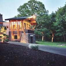 Modern Exterior by Sharratt Design & Company