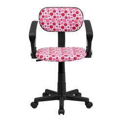 Flash Furniture - Flash Furniture Accent Chair X-GG-A-KP-D-TB - This attractive design printed office chair will liven up your classroom, dorm room, home office or child's bedroom. If you're ready to step out of the ordinary then this computer chair is for you! [BT-D-PK-A-GG]
