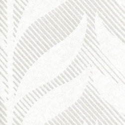 Romosa Wallcoverings - White / Silver Geometric Fern Wallpaper - Flaunt your favorite rooms with this gorgeous wallcoverings. This elegant wallcovering features a design pattern that is sure to turn heads, and colors that will inspire endearment. Ideal for living room, dining room and recreation room, Fern is available in three color selections. This removable wallcovering has a straight match pattern, and design repeat of 7 inches, for a quick applilcation. An easy method to redecorate without the hassle.