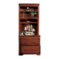 Winners Only - Country Cherry 32 in. Lateral File w Hutch - Includes lateral file and hutch. Letter/Legal. Made from wood. Cherry finish. Lateral File: 32 in. W x 23 in. D x 30 in. H (114 lbs.). Hutch: 32 in. W x 14.5 in. D x 49 in. H (82 lbs.)