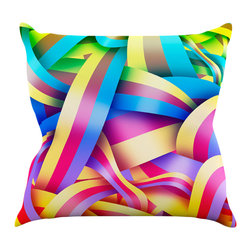 """Kess InHouse - Roberlan """"Medal"""" Rainbow Lines Throw Pillow (18"""" x 18"""") - Rest among the art you love. Transform your hang out room into a hip gallery, that's also comfortable. With this pillow you can create an environment that reflects your unique style. It's amazing what a throw pillow can do to complete a room. (Kess InHouse is not responsible for pillow fighting that may occur as the result of creative stimulation)."""