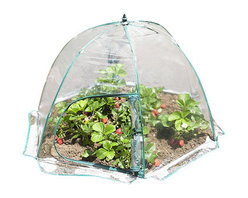 Zenport - Umbrella Greenhouse 109x64cm - Zenport SH3225C-A Umbrella Greenhouse for Protected Patio, Balcony Plant Growing and Gardening for extra protection from the elements during the colder months, this lightweight PVC cloche is easy to put up and has zipped access on one side. Folds flat for storage. Measures 43-Inch wide by 25-Inch tall.