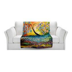 DiaNoche Designs - Throw Blanket Fleece - Abstract Blossom III - Original Artwork printed to an ultra soft fleece Blanket for a unique look and feel of your living room couch or bedroom space.  DiaNoche Designs uses images from artists all over the world to create Illuminated art, Canvas Art, Sheets, Pillows, Duvets, Blankets and many other items that you can print to.  Every purchase supports an artist!