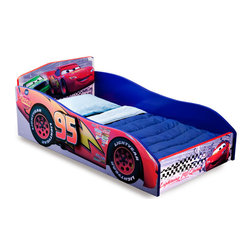 Adarn Inc - Children Blue Wood Safe Cozy Lightning Macqueen Pixar Race Cars Boys Toddler Bed - Petal to the Metal with Lightning Mcqueen in this newly designed Cars Wood Toddler Bed. The toddler bed is designed to be just like Lightning Mcqueen's own speedy race car embracing a friendly and fun way to transition your child from a crib to Toddler Bed. The Disney Pixar Cars Wood Toddler Bed also features a durable wood construction to ensure both safe sleeping and comfortability. Meets all JPMA safety standards. Some assembly required. Don't miss your chance to own this beautiful piece at a discounted price!