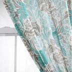 Bird Flourish Curtain - I love this gray, teal and turquoise drape set from Urban Outfitters! The pattern and color scheme are awesome.