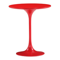 ZUO MODERN - Wilco Side Table Red - Timeless and classic, the Wilco side table will add contemporary flare to any room. The top is glossy painted MDF and the base is glossy coated fiberglass.