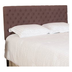 Great Deal Furniture - Ludington Queen/Full Headboard, Mocha - The Ludington headboard is a great piece to add elegance to your bedroom. You can spruce up the look of any queen or full sized metal frame bed with this headboard.
