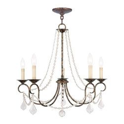 Livex - Livex 6515-71 Pennington Chandeliers in Venetian Golden Bronze w/Clear Crystals - Livex 6515-71 Pennington Chandeliers in Venetian Golden Bronze with Clear Crystals.