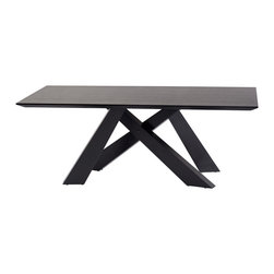 Armen Living - Modern Dining Table in Black Oak Finish - Make a bold statement with this contemporary dining table featuring a black oak finish.