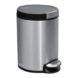 "Household Essentials - 5L Artistic Round Step Bin - Toss your trash in style in every room of your home or office with the 5L Artistic Step Bin a smaller version of the full size artistic bin with all the same great features—now compact!  Soft elegant stainless exterior shines without glare.  The bin's round design is both classic and modern featuring sleek tailored lines and easy access.  The easy-to-use step bin allows you to lift the bin's lid with the press of your foot so your hands are free.   Details:5L Artistic Step BinHands-free operation Step pedal open and automatic soft closeBuilt-in bag secure and Removable bin linerSleek round stainless exterior Dimensions:11.42"" x 8.08"" x 8.07""29cm x 20.5cm x 20.5 cm Color: Stainless steel"