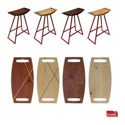 Roberts Barstool by Tronk Design - All cool angles and inlaid beauty, the Roberts barstool is a great modern stool. Perfect for those seeking something out of the ordinary.