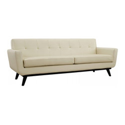 Modway Imports - Modway EEI-1338-BEI Engage Leather Sofa In Beige - Modway EEI-1338-BEI Engage Leather Sofa In Beige