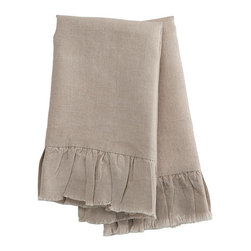Natural Linen Hand Towels - The perfect accompaniment to any kitchen or bathroom, these natural linen handtowels have a soft feel and are machine washable. A slight variance in color or size.