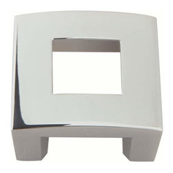Atlas Homewares - Atlas 255-Ch Centinel Modern & Clean Square Door Knob Polished Chrome - Atlas 255-Ch Centinel Modern & Clean Square Door Knob Polished Chrome