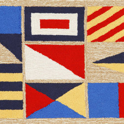 "Trans-Ocean - 24""x36"" Frontporch Signal Flags Natural Mat - Richly blended colors add vitality and sophistication to playful novelty designs.Lightweight loosely tufted Indoor Outdoor rugs made of synthetic materials in China and UV stabilized to resist fading.These whimsical rugs are sure to liven up any indoor or outdoor space, and their easy care and durability make them ideal for kitchens, bathrooms, and porches. Made in China."