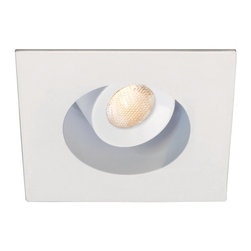 """WAC - 2"""" LED Recessed Downlight In White From WAC - From WAC Lighting comes this white LED square recessed lighting option with housing trim and interior reflector for sloped ceilings. The design offers low glare with a 20 degree cut-off angle and offers ample light with a 26 degree beam spread. For best wall wash performance space fixtures 4 feet apart and 2 feet from the wall. To be used with compatible WAC Lighting recessed housings for the best recessed light trim look. Use this downlight for remodels in kitchens living rooms bathrooms and hallways.  White finish.  20 degree.  From WAC Lighting.  LED square recessed downlight trim."""