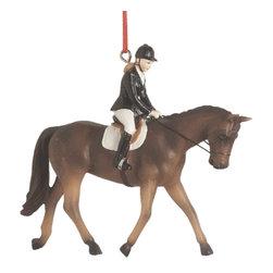 Midwest CBK - Horse Riding Christmas Tree Ornament - English Dressage Jockey Novelty Gift - Horse Riding Christmas Ornament