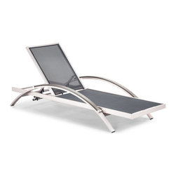 ZUO VIVA - Metropolitan Lounger Brushed Aluminum (set of 2) - Metropolitan Lounger Brushed Aluminum