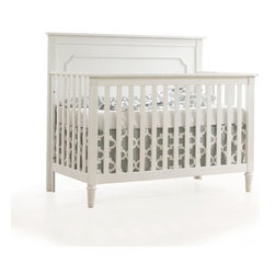 "Nest Juvenile - Nest Juvenile | Provence ""4-in-1"" Convertible Crib - Made in Canada by Nest Juvenile. A stately addition to the nursery, the Provence ""4-in-1"" Convertible Crib provides utility with style. An optional Toddler Gate and Double Bed Conversion Rails are available separately, allowing you to convert the crib into a toddler bed, a day bed and a spacious double bed as your child grows. The unique brushed finished highlights the solid oak and oak-veneer construction, while an optional Upholstered Panel makes this crib even more luxurious. The Provence ""4-in-1"" Crib is a lifetime of value in a single package. Product Features:"