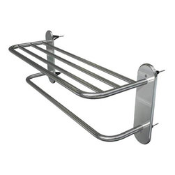 WINGITS, LLC - Towel Shelf 24 Inch Polished Stainless Steel - WingIts' 24 In. Master Racks are the world's strongest towel shelf and include Master Anchors, the World's Strongest Fastener, for easy installation - no blocking required. Made with 50% more stainless steel, longer retaining screws so the top shelf never sags and stainless steel back plates behind the escutcheons for added stability. Rated at 50 lbs. this towel shelf is built to last.