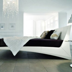 Andrea Lucatello - Dylan Bed - Upholstered Bed covered in soft leather or synthetic leather.