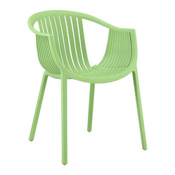 Hammock Green Plastic Stackable Outdoor Modern Dining Chair