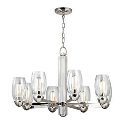 HUDSON VALLEY LIGHTING - Hudson Valley Lighting Pamelia-Chandelier Polished Nickel - Free Shipping