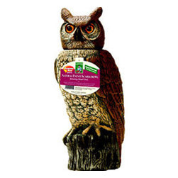 Dalen - Solar Activate 18 Inch Owl - Dalen's Solar Action Owl is activated by a solar-powered panel that delivers timed, but natural, head movement. When fully charged, the Solar Action owl's head is triggered to smoothly rotate on an average of every 2 minutes-mimicking an owl's movement in