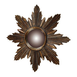 Sterling  Sterling 6050344 Starburst Die Cast Resin/Glass Traditional Convex Mir - The sunburst mirror has been popular since decorators used it in 18th-century France, so it is no wonder it is still a favorite in New Orleans.