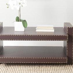 Safavieh - Safavieh Garson Brown Crocodile Coffee Table - The design possibilities are endless with the stylish Garson coffee table by Safavieh.