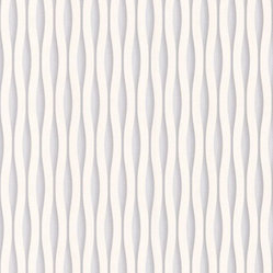 Lucid Wallpaper in White-Silver