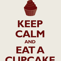 Keep Calm Collection - Keep Calm and Eat A Cupcake, archival print (antique white) - This item is an Art Print which means it is a higher-quality art reproduction than a typical poster. Art prints are usually printed on thicker paper, resulting in a high quality finish. This print is produced on a 270 gsm fine art paper stock.