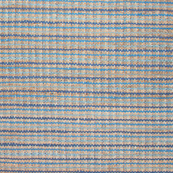 Jaipur Rugs - Naturals Stripe Pattern Cotton/ Jute Blue/Taupe Area Rug ( 3.6x5.6 ) - The Andes collection is hand-woven with jute and recycled Chindi cotton fabric for touches of both color and a softer feel. Eco friendly and durable, these rugs fit in a variety of homes.