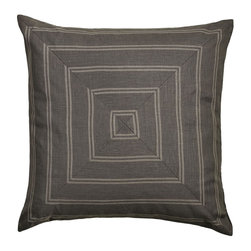 """Mystic Valley - Mystic Valley Traders Park Avenue - Euro Sham B with Insert - The Park Avenue Euro sham B is fashioned from the Brooks fabric on each side, mitred on front and railroaded on reverse, and finished with a clean edge; sold with polyester microfiber insert; 26""""x26""""."""