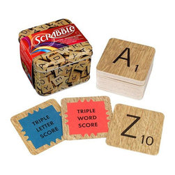 Wild & Wolf - Scrabble Coasters - Anyone can play ordinary Scrabble, but how about a game of Scrabble Coasters? Each set includes two complete alphabets and two star tiles for getting your word play game on as you drink!