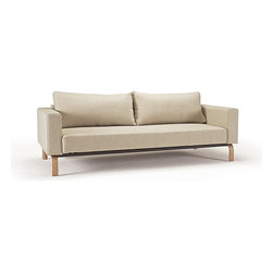 Cassius Sleek Sleeper Sofa Bed-Oak Legs -