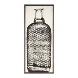 Copper River Woven Bottle Art, Framed