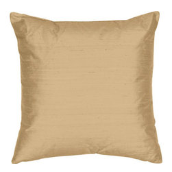 The Silk Group - Kool Ice 18x18-Inch Silk Dupioni Square Poly Insert Decorative Pillow - - Handcrafted in the USA these decorative pillows are ideal for adding that special finishing touch to any space. Available in over 100 colors several of them can be combined for a grouping of complementary colors or contrasting shades. They feature 100% Grade A Silk Dupioni the finest highest quality most exquisite silk fabric on the market. A high quality knit backing is permanently bonded to the back of the fabrics used in our pillows. The knit backing adds body increased stability and longevity to the pillow. An invisible color-coordinated zipper is discretely placed on the bottom edge of the pillow so both faces of the pillow are able to be displayed. The pillow inserts we use are over-sized so our pillows will always have that desirable high soft and fluffy appearance. Our pillows are available without the insert too if you prefer to use your own. The fabric face has been treated with the most durable and permanent stain moisture and UV repellants available. This provides long lasting protection from water alcohol and oil-based stains as well as resistance from fading and discoloring over time.  - Fill Material: Down  - Dry Clean Only The Silk Group - SQ_Dup_Sol_Kool_Ice_18x18_Poly