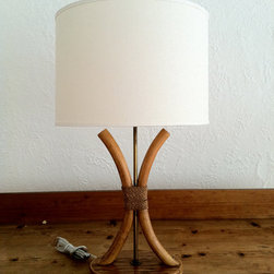 Mid Century Modern Bamboo Table Lamp by RODDYBLUE on Etsy -