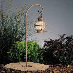 Kichler - Kichler Concord Outdoor Landscape Lighting Fixture in Olde Brick - Shown in picture: Path & Spread 1-Lt 12V in Olde Brick