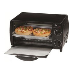 Maxi Matic USA - 4-Slice Toaster Oven Broiler - Elite Cuisine 4-Slice Toaster Oven Broiler with black finish.