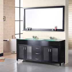 "60"" Waterfall Double Sink Vanity (DEC016A) -"