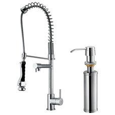 Contemporary Kitchen Faucets VIGO VG02007CHK2 Spray Faucet, Dispenser