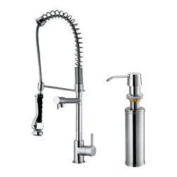 Vigo - VIGO VG02007CHK2 Spray Faucet, Dispenser - Accent your kitchen by adding this stylish yet durable VIGO faucet