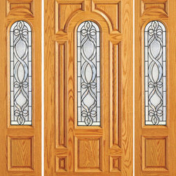 "Pre-hung Mahogany Center Arch Lite Exterior Two Sidelites Door - SKU#    525-D-1-2Brand    AAWDoor Type    ExteriorManufacturer Collection    Unique Entry DoorsDoor Model    Door Material    WoodWoodgrain    MahoganyVeneer    Price    2880Door Size Options    [30""+2(12"") x 80""] (4'-6"" x 6'-8"")  $0[30""+2(18"") x 80""] (5'-6"" x 6'-8"")  $0[32""+2(12"") x 80""] (4'-8"" x 6'-8"")  $0[32""+2(18"") x 80""] (5'-8"" x 6'-8"")  $0[36""+2(12"") x 80""] (5'-0"" x 6'-8"")  +$10[36""+2(18"") x 80""] (6'-0"" x 6'-8"")  +$10[42""+2(12"") x 80""] (5'-6"" x 6'-8"")  +$170[42""+2(18"") x 80""] (6'-6"" x 6'-8"")  +$170[30""+2(18"") x 84""] (5'-6"" x 7'-0"")  +$212[36""+2(18"") x 84""] (6'-0"" x 7'-0"")  +$232[42""+2(18"") x 84""] (6'-6"" x 7'-0"")  +$452[30""+2(12"") x 96""] (4'-6"" x 8'-0"")  +$472[30""+2(18"") x 96""] (5'-6"" x 8'-0"")  +$472[32""+2(12"") x 96""] (4'-8"" x 8'-0"")  +$472[32""+2(18"") x 96""] (5'-8"" x 8'-0"")  +$472[36""+2(12"") x 96""] (5'-0"" x 8'-0"")  +$492[36""+2(18"") x 96""] (6'-0"" x 8'-0"")  +$492  $Core Type    SolidDoor Style    TraditionalDoor Lite Style    Center Arch LiteDoor Panel Style    7 Panel , Raised MouldingHome Style Matching    Colonial , Plantation , VictorianDoor Construction    Engineered Stiles and RailsPrehanging Options    PrehungPrehung Configuration    Door with Two SidelitesDoor Thickness (Inches)    1.75Glass Thickness (Inches)    3/4Glass Type    Triple GlazedGlass Caming    BlackGlass Features    Insulated , TemperedGlass Style    Glass Texture    Glue ChipGlass Obscurity    Moderate ObscurityDoor Features    Door Approvals    FSCDoor Finishes    Door Accessories    Weight (lbs)    850Crating Size    25"" (w)x 108"" (l)x 52"" (h)Lead Time    Slab Doors: 7 daysPrehung:14 daysPrefinished, PreHung:21 daysWarranty    1 Year Limited Manufacturer WarrantyHere you can download warranty PDF document."