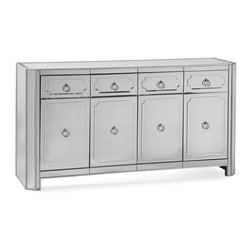 Bassett Mirror - Server with Storage Drawers - Four drawers and four doors. 70 in. W x 20 in. D x 38 in. H