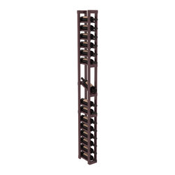 Wine Racks America - 1 Column Display Row Wine Cellar Kit in Pine, Burgundy + Satin Finish - Make your best vintage the focal point of your wine cellar. High-reveal display rows create a more intimate setting for avid collectors wine cellars. Our wine cellar kits are constructed to industry-leading standards. You'll be satisfied. We guarantee it.